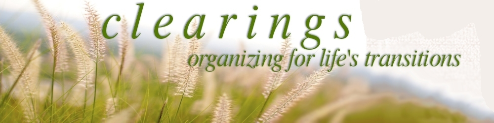 clearings organization - organizing for life's transitions